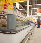 Панели холодильной витрины магазина «АШАН»