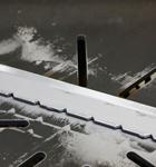 Подвеска конвейера порошковой окраски перед очисткой